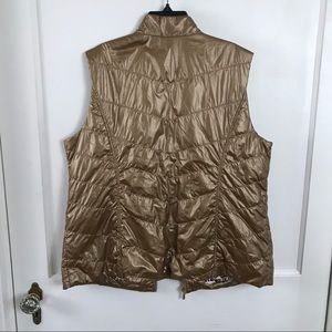 Chico's Jackets & Coats - Chico's Bronze Novelty Shine Puffer Vest Size L